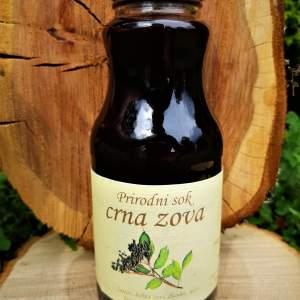 Prirodni sok od crne zove bez šećera sa medom
