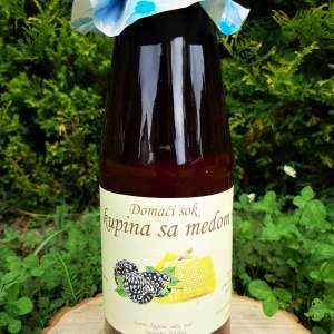 Prirodni sok od kupine bez šećera sa medom