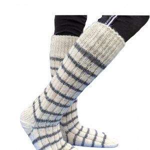 Vunene čarape duge bele