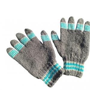 Vunene rukavice sivo plave