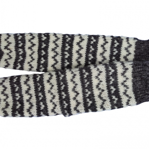 Vunene čarape sivo bele